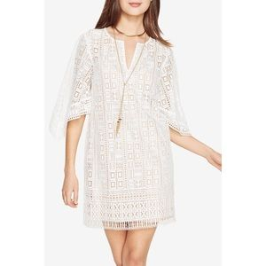 bcbg max azria tati lace dress in ivory
